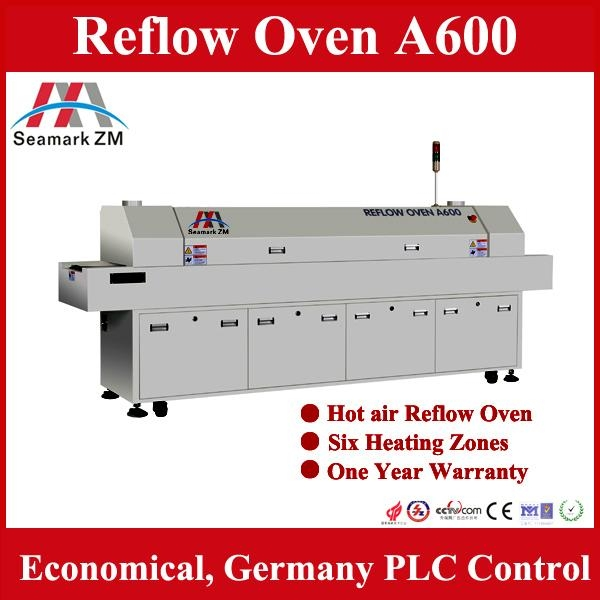 China Hot sale reflow oven A600 with 6 temperature heating areas  1