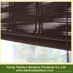 Folding bamboo blind
