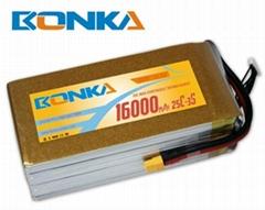 : Bonka-16000mah-3S1P-25C muticopter lipo battery