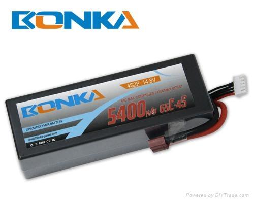 Bonka-5400mah-4S2P-65C  rc car lipo  1