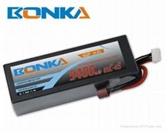 Bonka-5400mah-4S2P-65C  rc car lipo