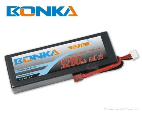 Bonka-5200mah-2S2P-65C RC car battery 1