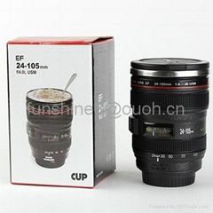caniam 24-105mm 2 generation camera lens mug with stainless steel inner