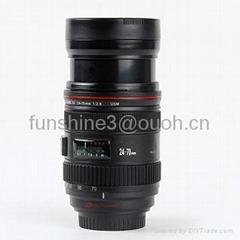 caniam 24-70mm zoomable camera lens double wall coffee mug