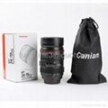 caniam 24-70mm zoomable camera lens double wall coffee mug 5