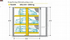 Underground 3 level car lift parking  invisible fast access hydraulic parking