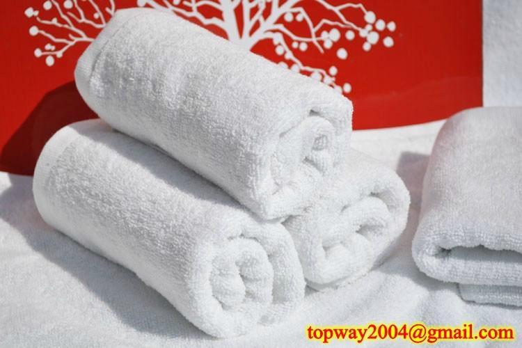 100% 棉平织漂白毛巾 1