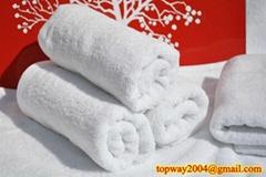 100% 棉平织漂白毛巾