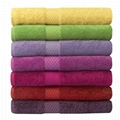 100% cotton piece dyed satin towels