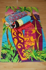 100% cotton reactive printing beach towels