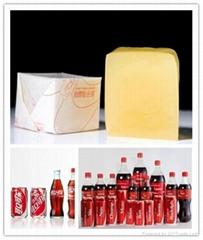 Bottle labeling hot melt adhesive