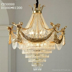 crystal lamp brass chandelier Ceiling lamp