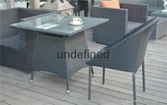 PE Rattan Table and Chair Sets