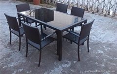 2015 Environmental Rattan Table&Chair Sectional