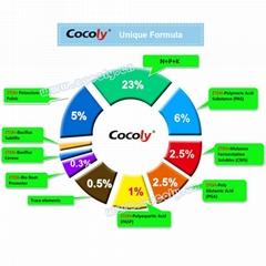 Cocoly fu  ic acid granular fertilizer 100% water soluble