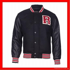 hot sell high quality  leather sleeves american baseball jackets
