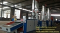 Fabric waste recycling machine for