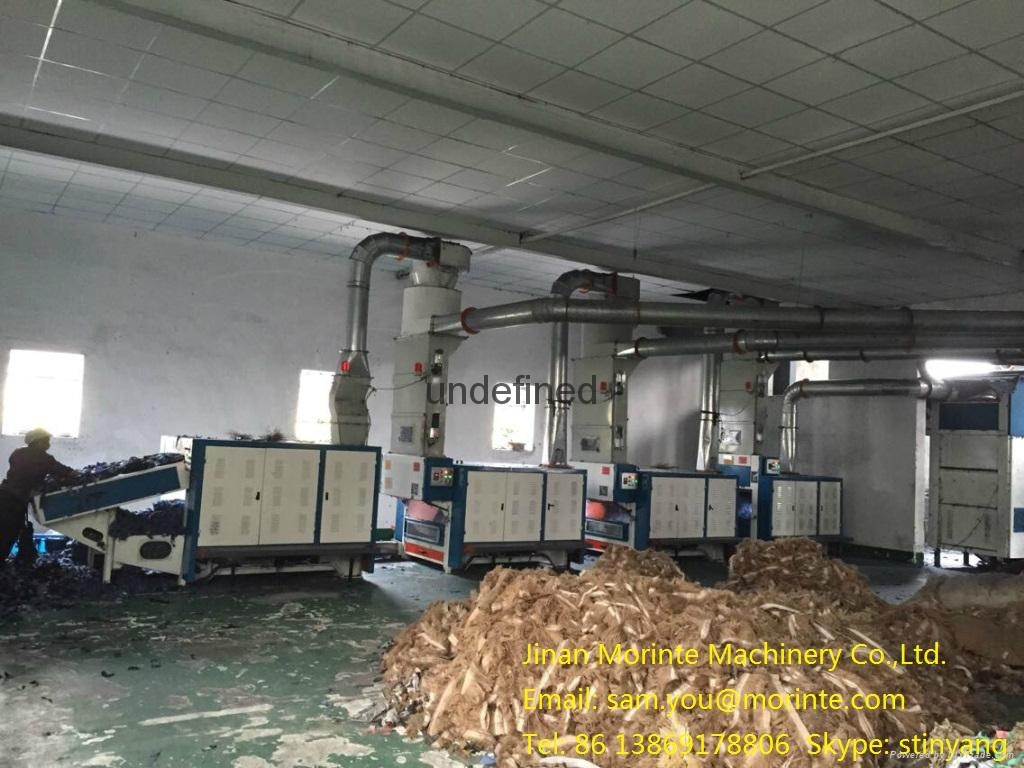 Fabric waste recycling machine for mattress quilt sofa filling 4