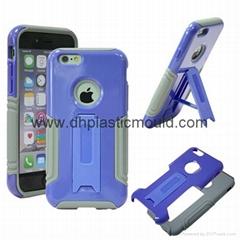 PC+硅胶带支架苹果Iphone手机壳