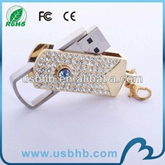hot sale pen drive 3.0 crystal usb disk free logo printed