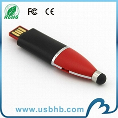 The promotion touch pen swivel usb sticks in high quality