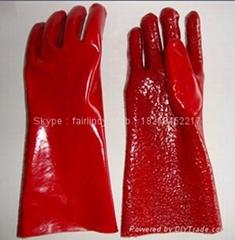 紅色毛巾布手套