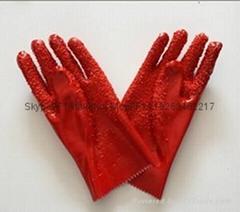 紅色顆粒手套