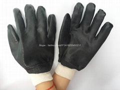 出口品質廠家直銷羅口磨砂手套