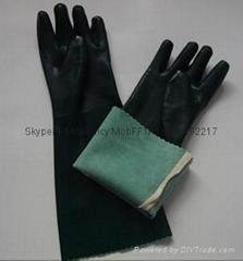 45cm绿纱浸胶手套