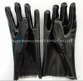 Rough finished open cuff pvc gloves