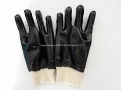 Rough finished knit wrist pvc coated gloves