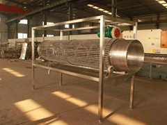 Poultry carcass draining machine