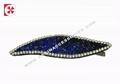 rhinestone leaf  hair clip