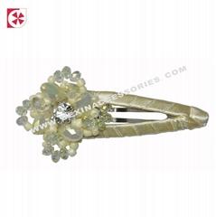handmade crystal clip