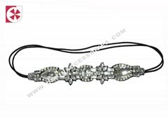 handmade rhinestone beading hairband