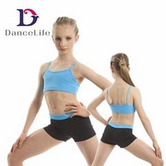 Wholesale girls dance crop tops crop top camisole bra top
