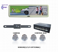 PARKING SENSOR SYSTEM WITH 4.5INCH REARVIEW MIRROR TFT-LCD MONITOR