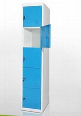steel 5-door locker