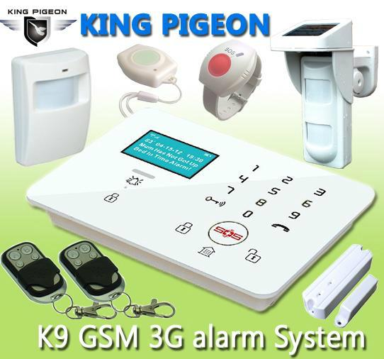 GSM 3G Touch Keypad Alarm System with Dial to Open Gate K9 1