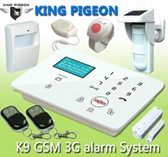 GSM 3G Touch Keypad Alarm System with Dial to Open Gate K9