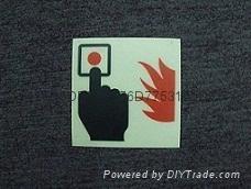 夜光消防器材说明标牌荧光标识