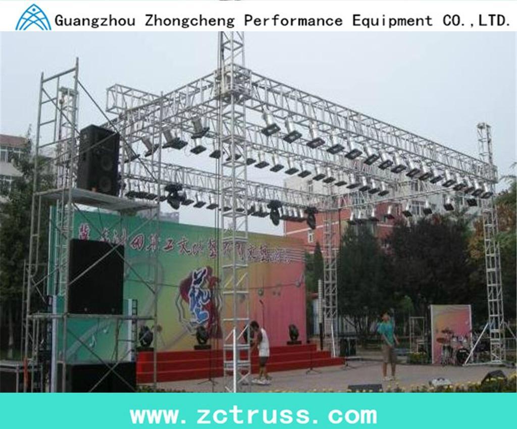 aluminium alloy performance exhbition lighting stage performance screw truss 1