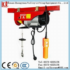 Wire rope small mini electric hoist with trolley for sale