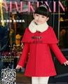 冬款童装女童韩版披肩外套