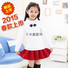 2015春款童装中大童纯棉T恤