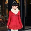 冬款童装毛领加厚外套