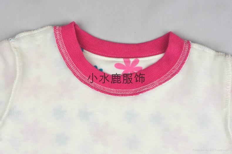 秋冬儿童保暖不倒绒加厚女童内衣套装 5