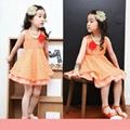 夏款童裝韓版女童蕾絲連衣裙