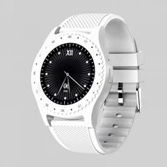 Smart round screen insert card information push phone watch.