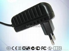 12V600MA欧规FCC认证电源适配器